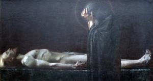Franz von Stuck (1863–1928), Pietà,1891, Städel  (Wikimedia Commons)