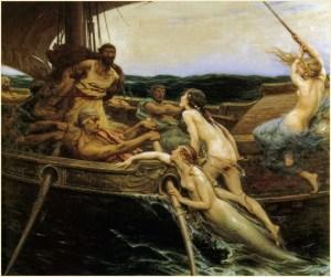 Herbert Draper (1863–1920), Ulysse et les sirènes, 1909, Ferens Art Gallery (Wikimedia Commons)