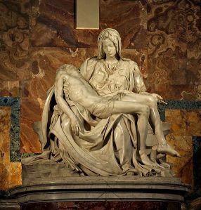 Michel-Ange (1475 - 1564 à Rome), Pietà, 1499, Basilique Saint-Pierre, Cité du Vatican