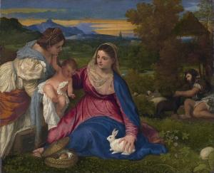 Le Titien, La Vierge au Lapin, 1530, Louvre  (Wikimedia Commons)