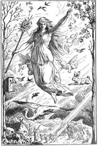 "Johannes Gehrts (1855–1921), «Ostara"" (création: 1884. Publication :1901)  (Wikimedia Commons)"