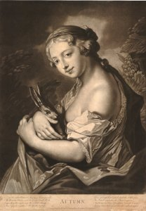 Rosalba Carriera (1675–1757), Les 4 saisons: l'automne (gravure)