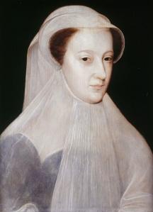 Peinture de François Clouet (1515 - 1572) représentant Marie reine d'Ecosse en vêtements de deuil, exécuté vers 1559–1560