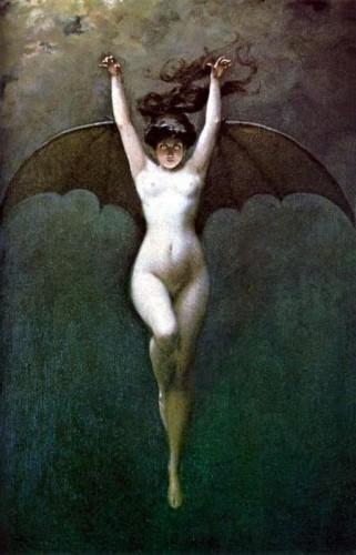 Albert Joseph Pénot (1862-1930), Femme Chauve-Souris, vers 1890