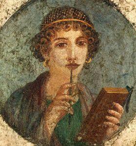 Jeune femme avec une tablette de cire, Maître d'Herculanum