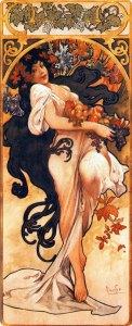 Alfons Mucha (1860–1939), Les quatre saisons. L'automne, 1897