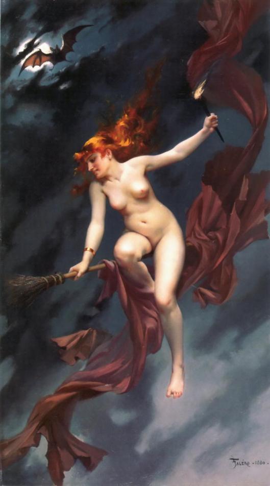 Luis Ricardo Falero (1851–1896), La sorcière allant au Sabbat, 1880