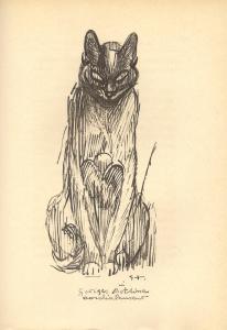 Théophile-Alexandre Steinlen, (1859 - 1923), Dessin pour Les Muses mêlées publié par Claude Aveline, 1926