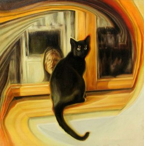 Barbora Balkova, Chat noir, 2002 (artiste contemporaine, Wikimedia Commons)