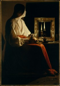Georges de La Tour (1593–1652), Marie Madeleine, 1625-1650, Metropolitan Museum of Art Wikimedia Commons)