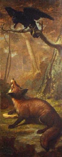 Leon Rousseau, Le renard et le corbeau, avant 1870