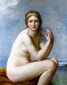 Dans ce tableau intitulé Psyché Abandonnée et peint en 1795 par Jacques-Louis David (1748-1825), Psyché est assise, désespérée, après avoir été abandonnée par Cupidon.