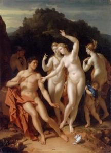 Dans ce tableau de Adriaen van der Werff (1659–1722), intitulé Le jugement de Pâris, et peint en 1716, Héra, Athéna et Aphrodite se présente devant le berger Pâris afin qu'il désigne la plus belle d'entre elles.