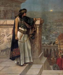 Herbert Schmalz (1856–1935), La reine Zénobie regardant Palmyre