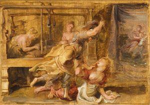 Pierre Paul Rubens (1577–1640) , Pallas et Arachné,1636 ou 1637, Virginia Museum of Fine Arts