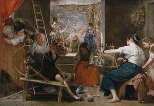 Diego Velázquez (1599–1660) Les fileuses ou la légende d'Arachné, vers 1657, Madrid, Musée du Prado