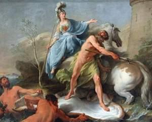 Noël Hallé (1711 - 1781), Dispute de Minerve et de Neptune, 1748, Le Louvre