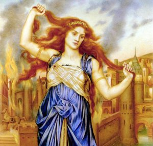 Evelyn De Morgan (1855–1919), Cassandre, vers 1898