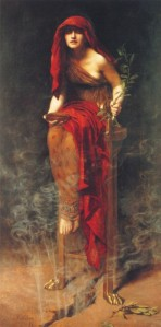 John Collier (1850–1934), La prêtresse de l'oracle de Delphes antique, 1891