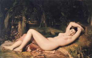 Théodore Chassériau (1819–1856), Nymphe endormie près d'une source, 1850, Musée Calvet, Avignon