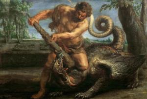 Peter Paul Rubens (1577-1640), Hercules tuant le dragon du jardin des Hespérides, 1638