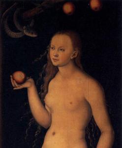 Eve (extrait), Lucas Cranach (1472 - 1553), Galerie des Offices, Florence