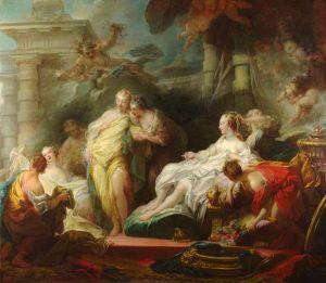 Jean-Honoré Fragonard (1732–1806), Psyché montrant les cadeaux de Cupidon à ses soeurs, 1753
