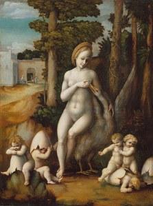 Bacchiacca (1494–1557), Léda et le cygne, XVIe siècle, Metropolitan Museum of Art
