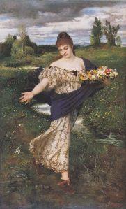Arnold Böcklin (1827–1901), Flore semant des fleurs, 1875, Museum Folkwang, Essen