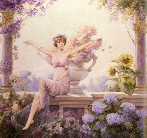 Louise Abbéma (1853–1927), Flore, 1913, Collection privée