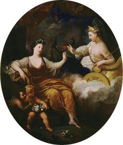 Bon Boullogne (1649–1717), Junon et Flore, 1702, Palais de Versailles