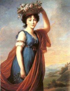 Élisabeth Vigée-Le Brun (1755–1842), La Princess Eudocia Ivanovna Galitzine peinte en Flora, 1799