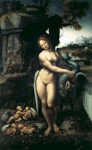 Léda et le cygne par Francesco Melzi d'après une peinture perdue de Leonard de Vinci, vers 1508-1515, Galerie des Offices, Florence
