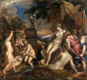 Titien (1490–1576), Diane et Callisto, 1556 à 1559