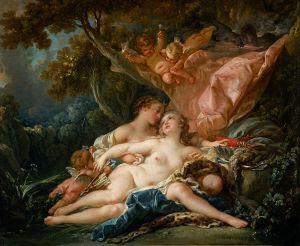 François Boucher (1703–1770), La Nymphe Callisto, séduite par Jupiter sous les traits de Diane, 1759