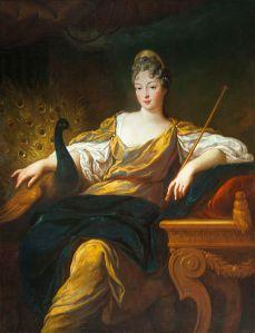 François de Troy (1645–1730), Françoise Marie de Bourbon (1677-1749) en Junon