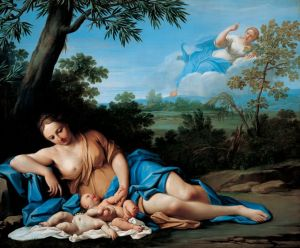 Marcantonio Franceschini (1648–1729), La naissance d'Apollon et d'Artémis, vers 1692-1709