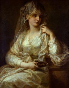 Angelica Kauffmann (1741–1807), Portrait d'une femme en vestale, (1781 - 1782), Gemäldegalerie Alte Meister