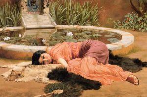 John William Godward (1861–1922), Dolce Far Niente, 1904