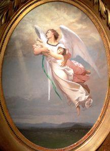 Jean-Léon Gérôme  (1824–1904), Une âme emportée par un ange, 1853, Musée Georges-Garret, Vesoul, France