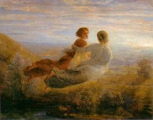 Louis Janmot  (1814–1892), Poème de l'âme (16) : Le Vol de l'âme, 1854, Musée des Beaux-Arts de Lyon