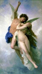 William Bouguereau (1825-1905), Psyché et l'Amour, 1889, Hobart (Tasmanie), Tasmanian Museum and Art Gallery
