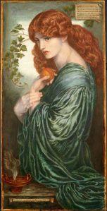 Dante Gabriel Rossetti, Proserpine, 1882, Birmingham Museum and Art Gallery