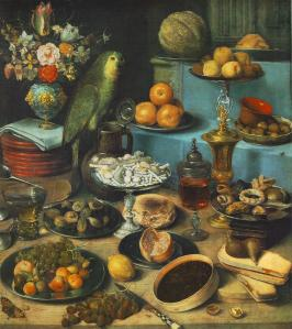 Georg Flegel (1566–1638), Nature morte avec perroquet, vers 1630