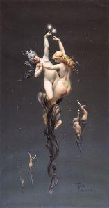 Luis Ricardo Falero (1851–1896), La Balance du Zodiaque