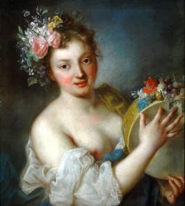 Rosalba Carriera (1675–1757), Bacchante avec tambourin, 1712