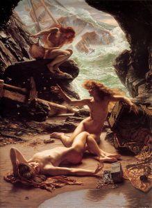 Edward Poynter  (1836–1919), Nymphes de la grotte aux tempêtes, 1903