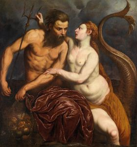 Paris Bordone  (1500–1570), Neptune et Amphitrite, vers 1560