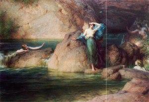 Herbert Draper (1863–1920), Halcyone, Huile sur toile, 1915, collection privée.