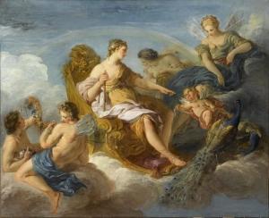 François Lemoyne  (1688–1737), Junon, Iris et Flore, 1720, Musée du Louvre
